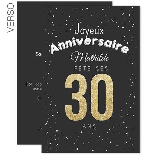 1000 ideas about invitation anniversaire 30 ans on pinterest invitation 30 ans carte. Black Bedroom Furniture Sets. Home Design Ideas