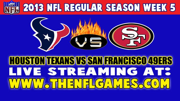 Houston Texans vs San Francisco 49ers Live Streaming