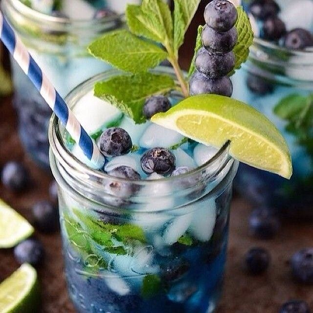 Blueberry + Mint + Lime Detox Water