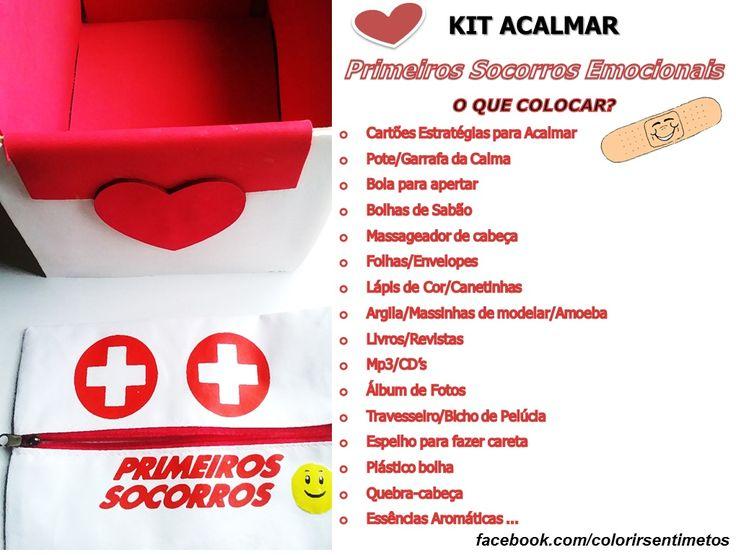 KIT ACALMAR - LISTA DE ITENS Visite a página no Fecebook para saber mais! www.facebook.com/colorirsentimentos