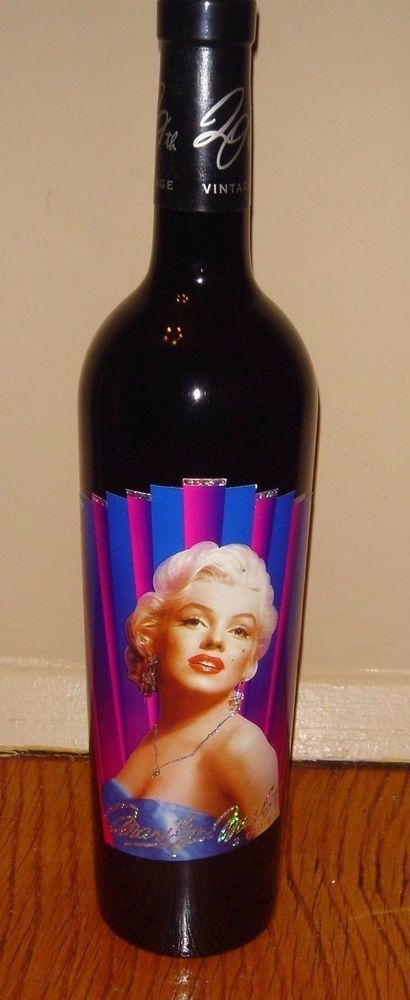 Marilyn Monroe Merlot 2004 Red Wine Norma Jeane Collectible Bottle 20th Vintage #MarilynMerlot