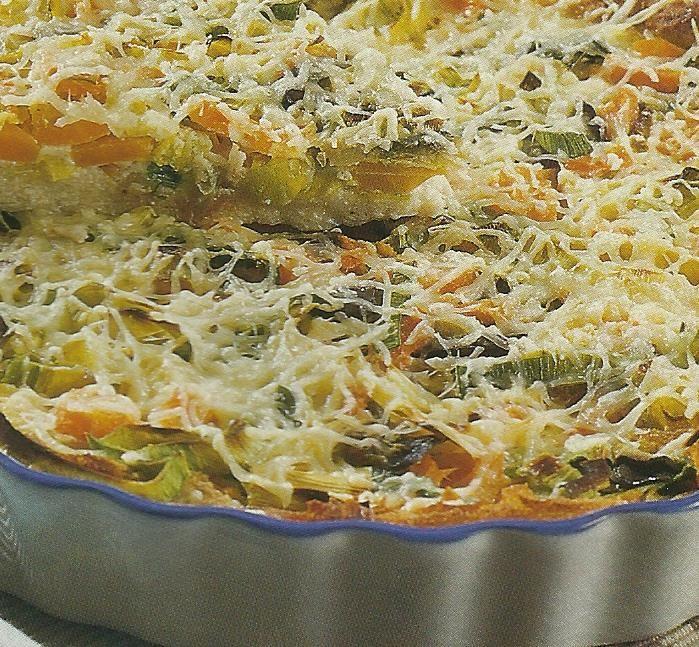 Quiche de Legumes - http://www.receitassimples.pt/quiche-de-legumes/