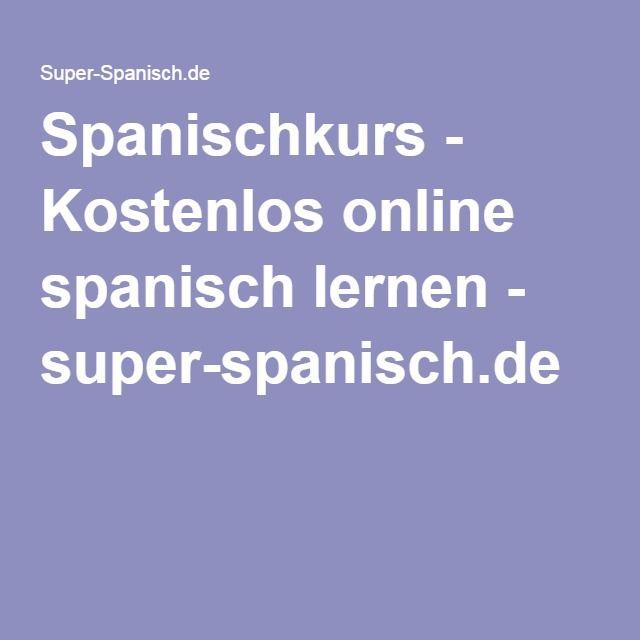 14 best Spanisch. images on Pinterest | Learn spanish, Learning ...