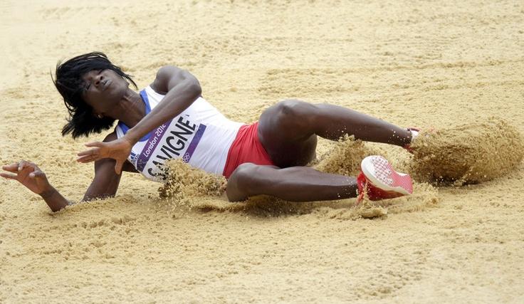 Parmi les épreuves d'athlétisme disputées ce vendredi, les qualifications du triple-saut féminin.