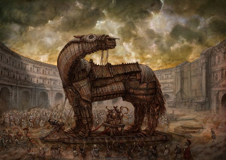 47 best Trojan Horse images on Pinterest | Horses, Badges and Cartoons