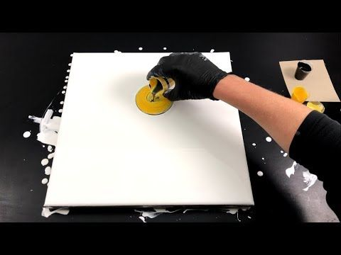 Swirling acrylic casting – white negative space – fast and easy – YouTube
