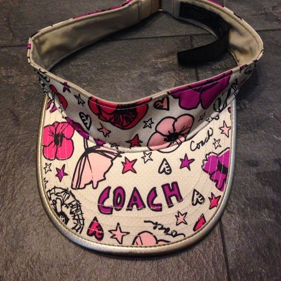 Coach Poppy Visor Great for those like to be outdoors, play tennis, golf, whatever your fancy yet still being fashionable! In immaculate condition! Coach Accessories Hats