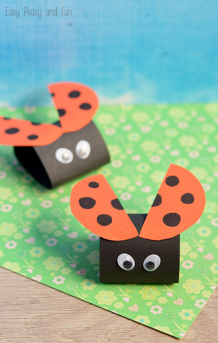 Ladybird Paper Craft - Easy Peasy and Fun Just stiff paper and googly eyes, so simple yet so cute.