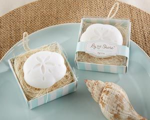 Ideal for a destination wedding favor, these sand dollar coasters say thank you to every guest that had a hand in making your day special!