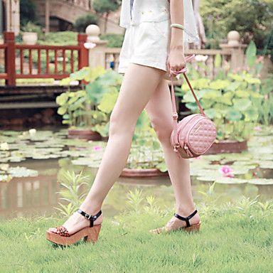das mulheres bolsa de ombro saco de estilingue pu / bolsa - rosa – BRL R$ 87,59