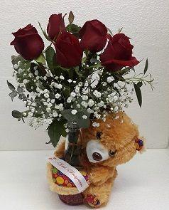 ayicikli-vazoda_gul, Pendik Çiçek, Pendik Çiçek Gönder, Pendik Çiçek Siparişi, Pendik Çiçekçisi, Pendik Çiçekçiler, Pendik Çiçekçilik, 0216 384 7038, Pendik Çiçekçisi