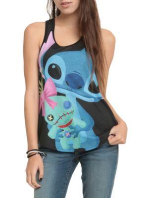 Disney Lilo & Stitch Cuddly Stitch Girls Tank Top