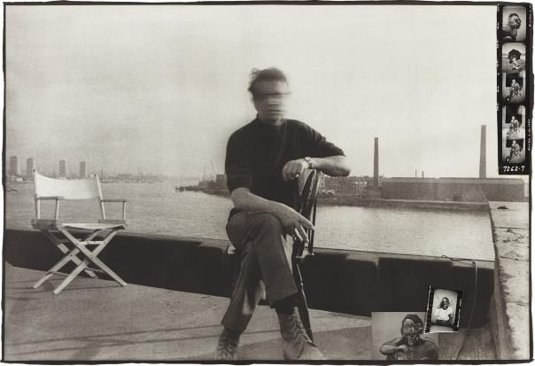 PHILLIPS : Peter Beard, Francis Bacon on his roof at 80 Narrow Street, London, March 1972