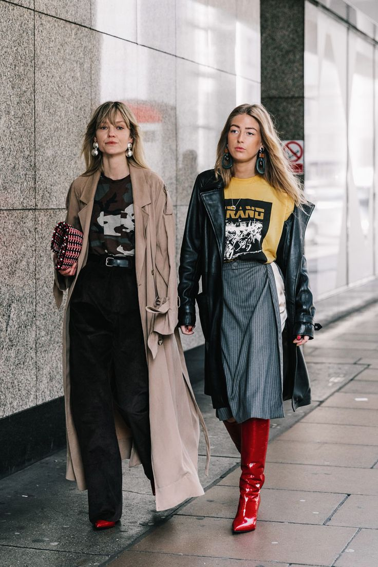 Street Style Trend Spotting | Patent leather boots and graphic t-shirts