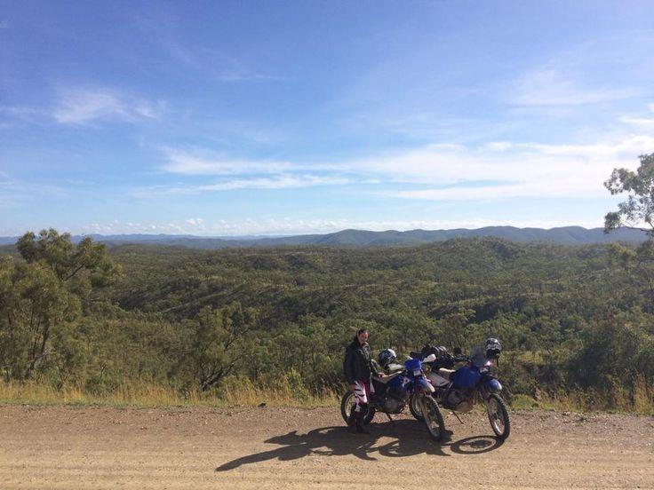 Trail biking through Palmer River Goldfields, Far North Queensland, 2014