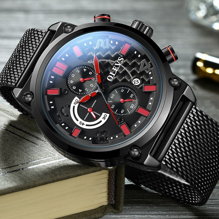 Chronograph Military Watch Calendar Quartz Clock Stainless Steel Sport Wristwatches //Price: $88.99 & FREE Shipping //     #tacticalgear #survivalgear #tactical #survival #edc #everydaycarry #tacticool