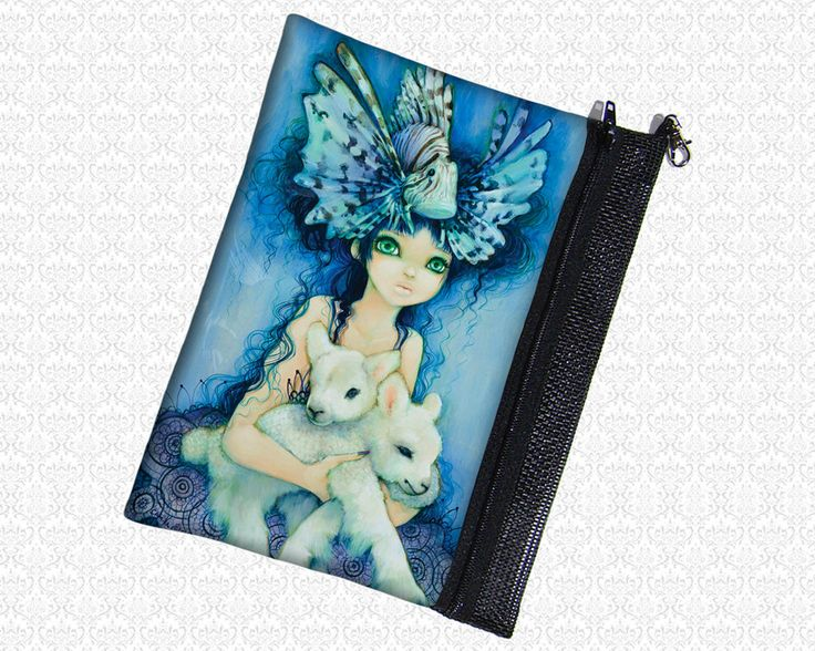 Lions and lambs pouch Camilla d'Errico wristlet, travel bag, by HautTotes on Etsy https://www.etsy.com/listing/74839310/lions-and-lambs-pouch-camilla-derrico