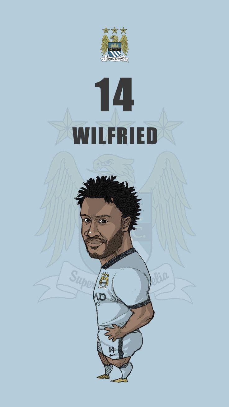 "Manchester city fan art for mobile wallpaper ""Wilfried Bony"""