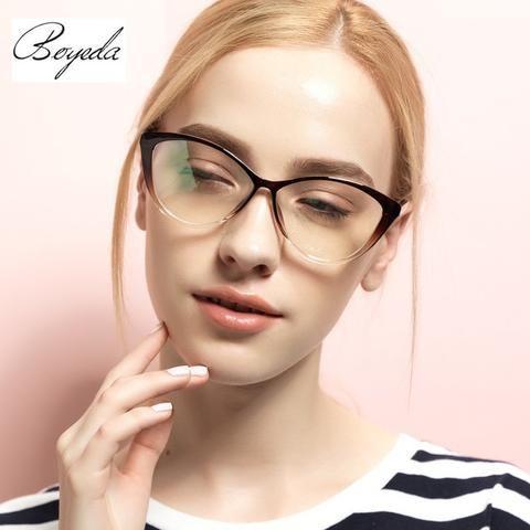 TR90 Female Grade Glasses Frame 2016 Hipster Vintage Computer Eyeglasses Women Cat Eye Glasses Plain Spectacle Frame Oculos Grau