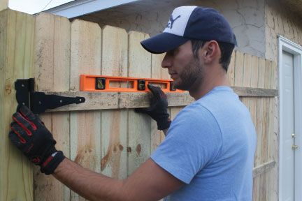 Putting up a privacy fence