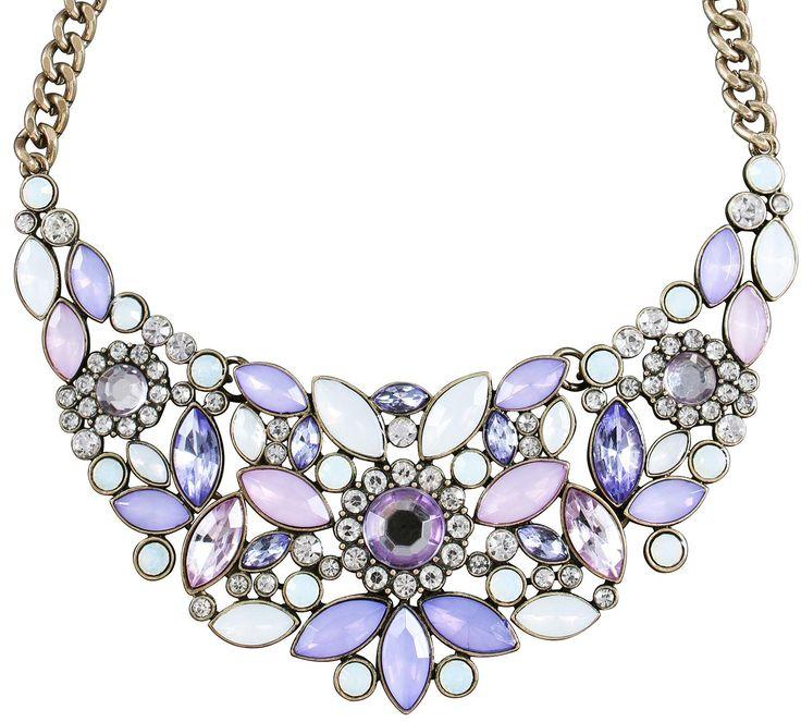 Kette - Purple Stone - Bijou Brigitte Online-Shop