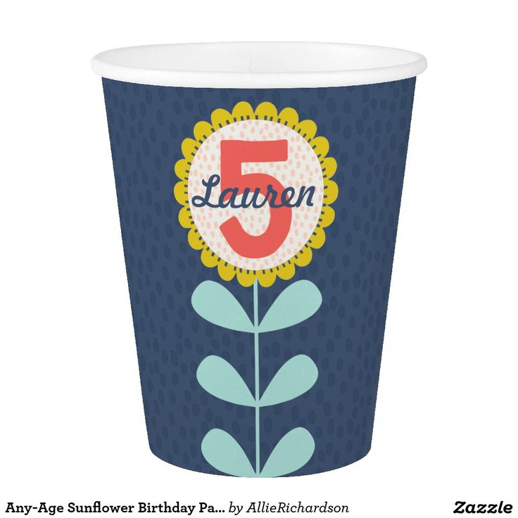 Any-Age Sunflower Birthday Party Cup