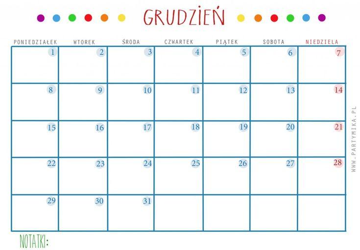 Kalendarz i planer DO DRUKU. - partymika