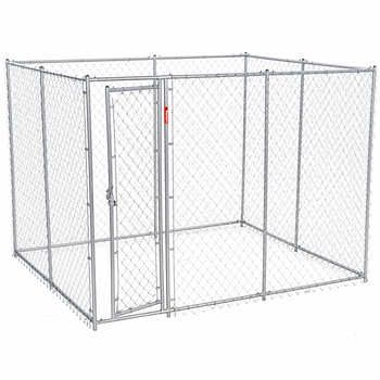 Lucky Dog Box Chain Link Dog Kennel