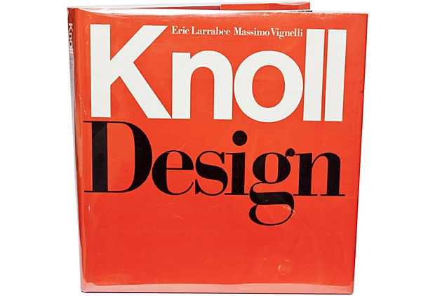 What a find! A vintage Knoll book by Eric Larrabee and Massimo Vignelli! It would be a great addition to any design enthusiast's library!