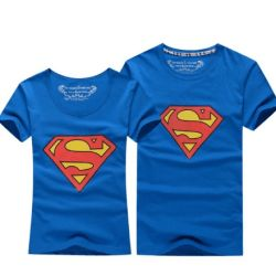 T-shirt couple assortis superman