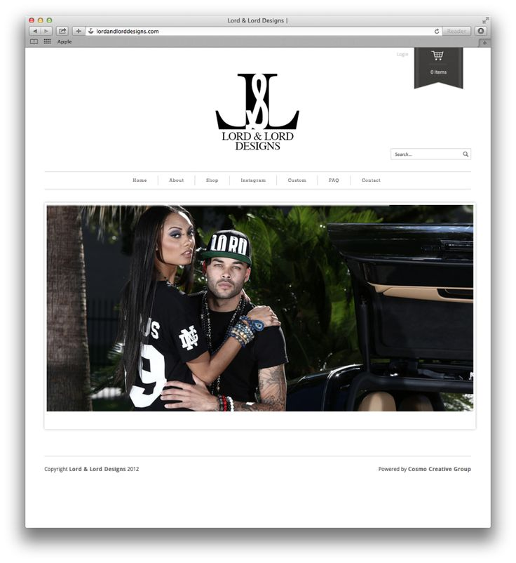 Custom E-Commerce Web Design for Lord & Lord Designs.. a very popular brand that has originated in Houston.. We love when clients like this trust to create for them!