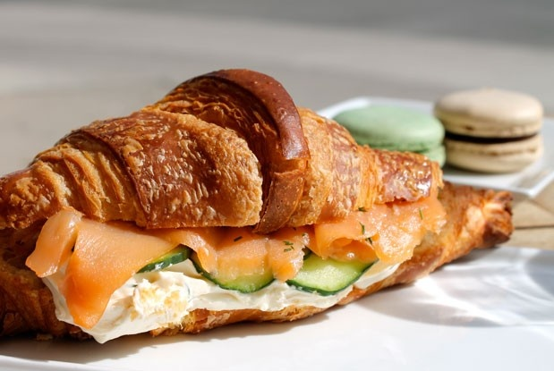 The smoked salmon and cream cheese croissant from Nadège Patisserie