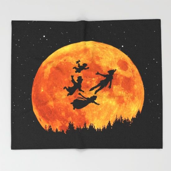 Take Me To Neverland Throw Blanket
