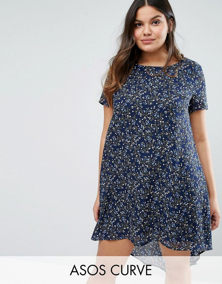 Buy it now. Koko Plus Swing Dress With Dip Back In Floral Print - Pink. Plus-size dress by Koko, Lightweight woven fabric, Round neck, Dipped hem, Floral print, Regular fit - true to size, Machine wash, 100% Polyester, Our model wears a UK 18/EU 46/US 14 and is 180cm/5'11 tall. , vestidoinformal, casual, camiseta, playeros, informales, túnica, estilocamiseta, camisola, vestidodealgodón, vestidosdealgodón, verano, informal, playa, playero, capa, capas, vestidobabydoll, camisole, túnica, sh...