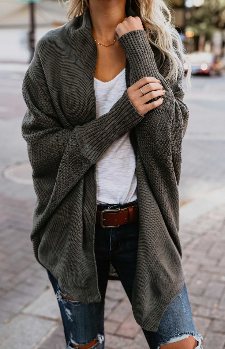 $34.99!Stylish Open Collar Oversize Casual Solid Color Cardigan fall fashion
