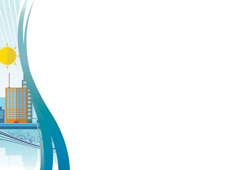 big city powerpoint templates 3d graphics blue buildings
