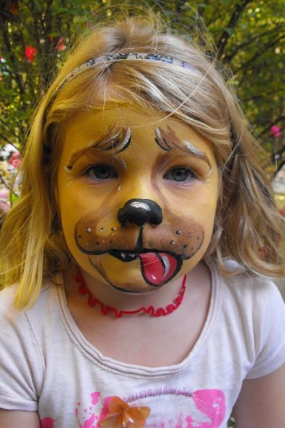 Golden Retriever Puppy Face Paint Animals For Kids Animal Faces