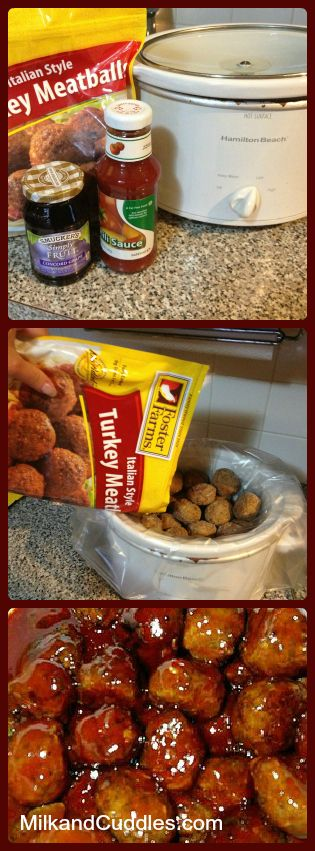 3 Ingredient Grape Jelly Meatballs! Sounds crazy... tastes CRAZY GOOD!! Great pass the dish! (Video included) This is a MUST know for quick entertaining, and easy crock pot appetizers!