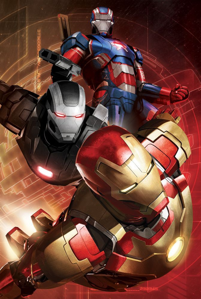 Iron Man, War Machine and Iron Patriot by Ken-Sanada.deviantart.com on @deviantART