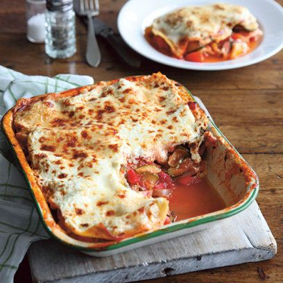 Pepper and courgette lasagne recipe. For the full recipe, click the picture or visit RedOnline.co.uk