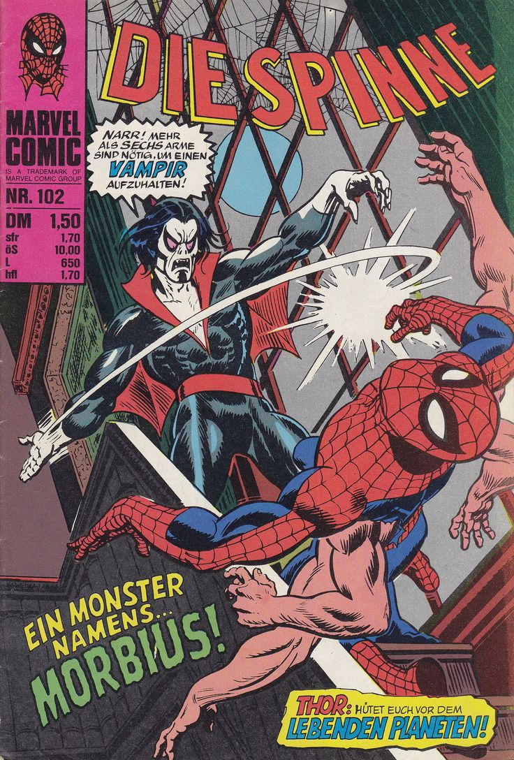 https://flic.kr/p/Wy24t9 | Die Spinne 102 | Die Spinne / Heft-Reihe Originalausgabe: The Amazing Spider-Man 101 (A monster called Morbius!) cover: Gil Kane, John Romita Williams Verlag (Hamburg / Deutschland; 1978) ex libris MTP en.wikipedia.org/wiki/Morbius,_the_Living_Vampire