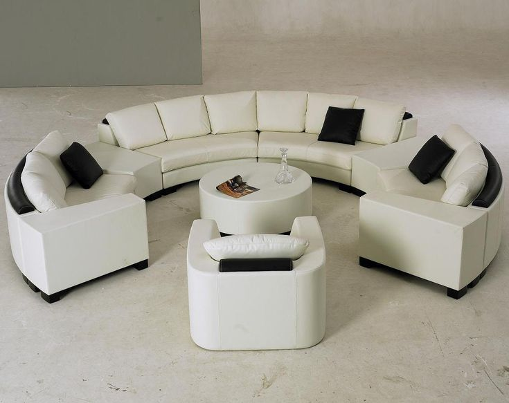 Modern White Circle Sectional Living Room Set  Decor  Pinterest Gorgeous Circular Living Room Design Inspiration