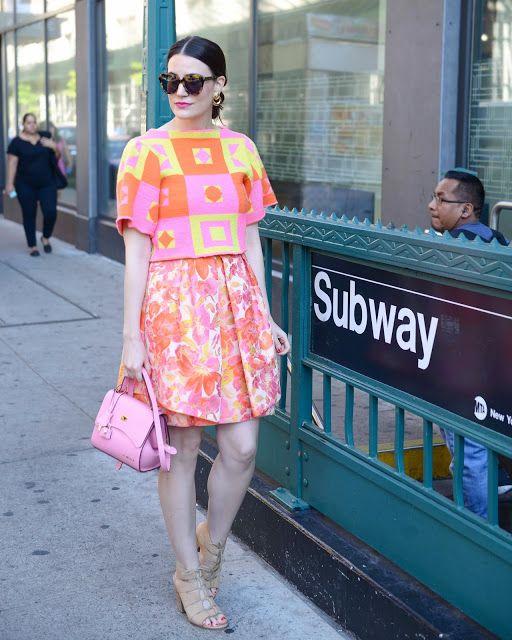Photos by the talented Lauren Anderson. sunglasses// Karen Walker earrings// Cheeky Vintage lipstick// Nars, Schiap top// Cheeky Vintage bag// St. Nicola dress// Trina Turk heels// Hinge