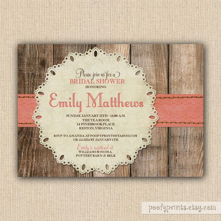 rustic baby girl shower invitations party ideas pinterest