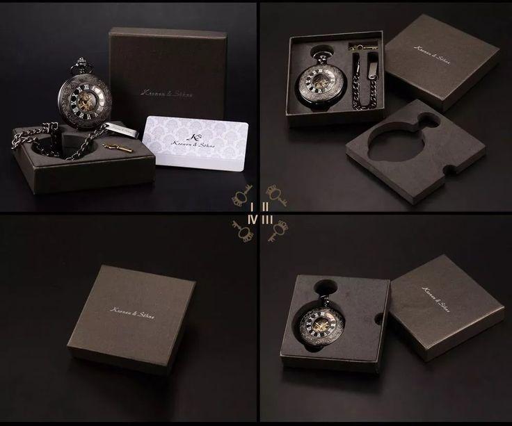 relógio de bolso à corda mecânico kronen & sohne half hunter