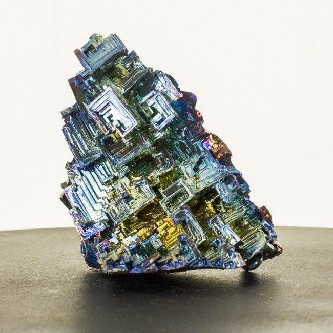 "4.4"" Flashy Metallic BlueGoldMagenta BISMUTH Hoppered Crystals Germany for sale"