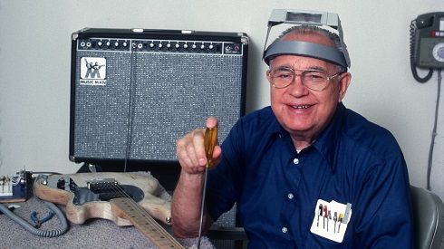 Mar. 21: Today in 1991, Leo Fender, the inventor of The Telecaster and Stratocaster guitars died from Parkinson's disease