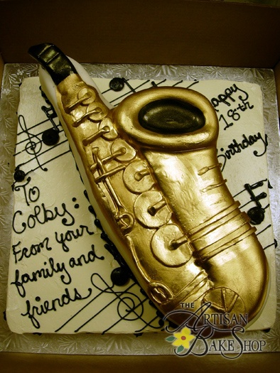 Saxophone Cake Decorations