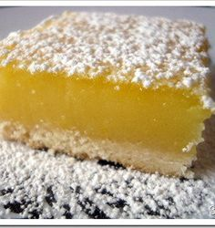 Recipe for The BEST Lemon Bars on Earth - You will never want to, buy the ready-to-make box of pseudo-lemon bars again.