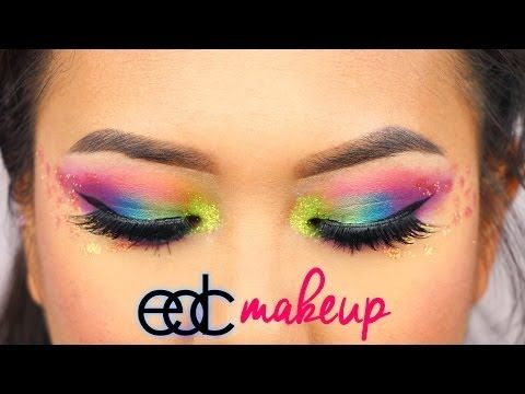 Electric Daisy Carnival Makeup | naohms - YouTube